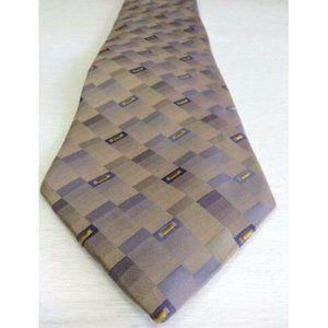 Bugatti Men's Tie Rectangles 100% Silk